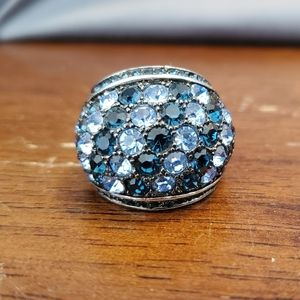 Blue & silver cocktail ring from Park Lane
